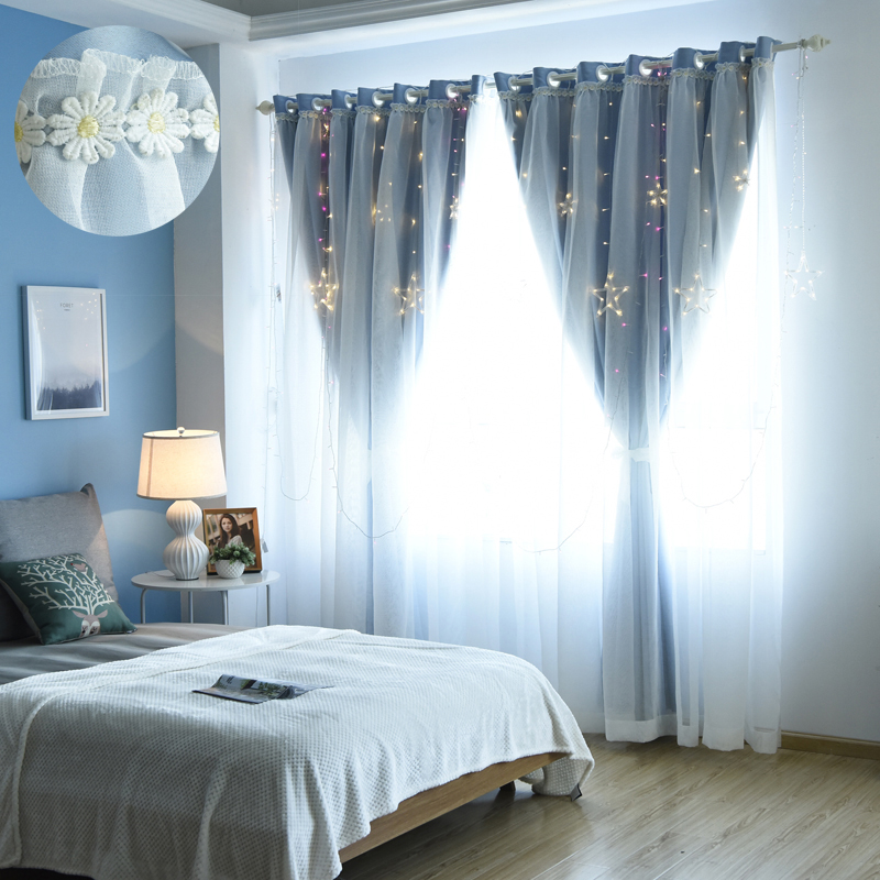 Hot Sale Hospital Cafe Cortinas Dormitorio Curtains For Bedroom Living Room Window Tulle For Children Room Treatments