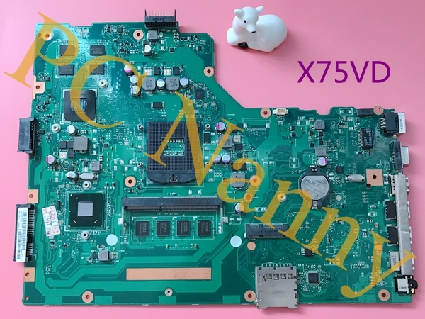 "Para asus x75vd 17.3 ""placa de sistema motherboard notebook mobile intel hm76 express nvidia gráficos s989"