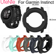 Soft silicone protective case For Garmin Instinct smart watch Dial protection Transparent watch case For Garmin Instinct watch soft silicone protective case for garmin instinct smart watch dial protection transparent watch case for garmin instinct watch