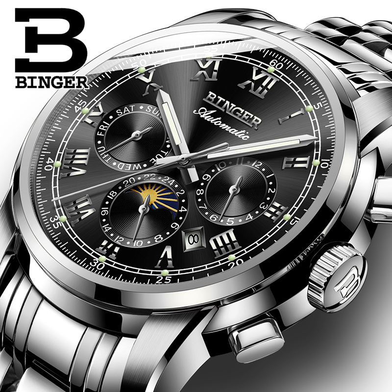 Men Automatic Mechanical Watches Top Brand Luxury Stainless Steel Watch Mens Sport Wrist Watch Male relogio Luminous Calendar