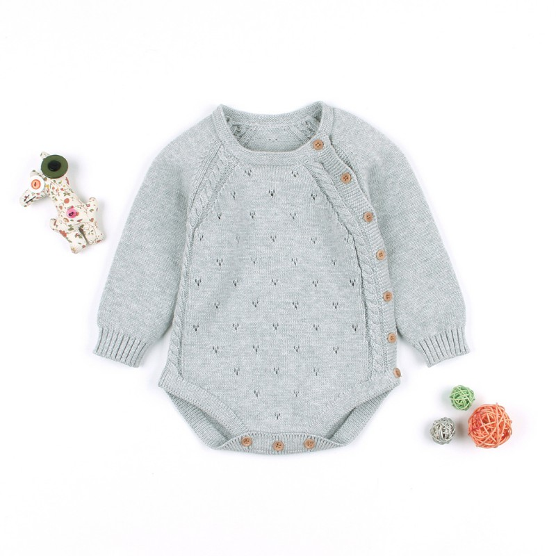 Infant Baby Girl's knit   Rompers   Long Sleeve Wool Knitted   Rompers   Baby Princess Jumpsuit Toddler Kid's Autumn Winter Clothing