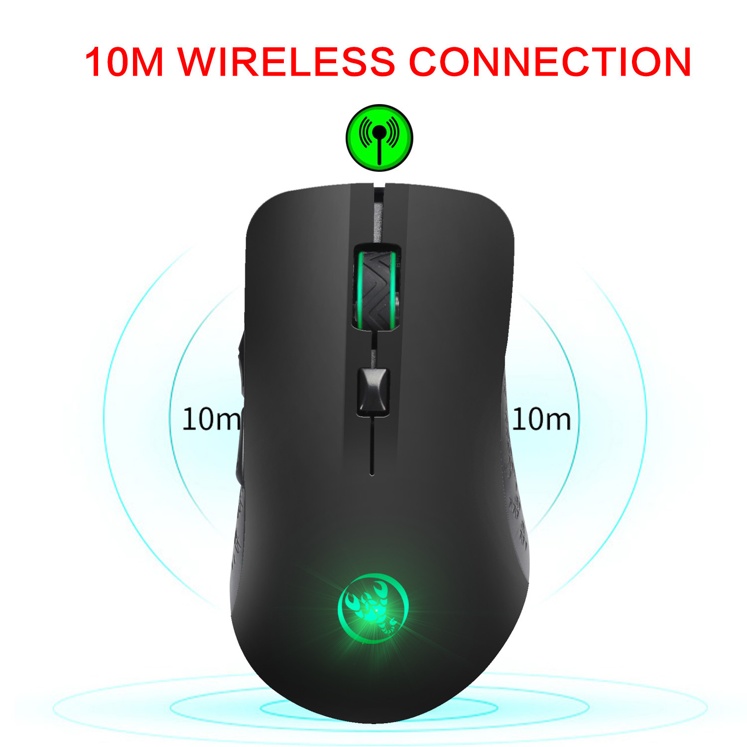 Wireless Gaming Mouse 2.4ghz 2400DPI Optical USB LED Ergonomic Charging Mice