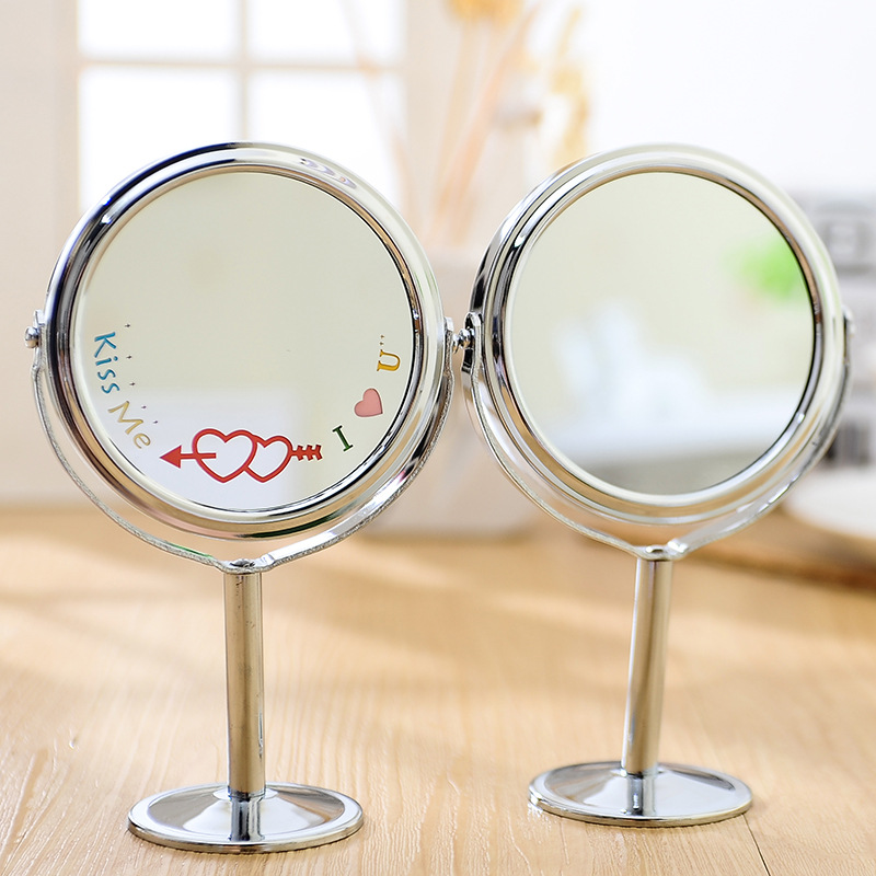 Interesting Desk Mirror Fashion Lady Table Standing Dresser Cosmetic Makeup Double Sided Magnification 4 Inchin On Design Ideas
