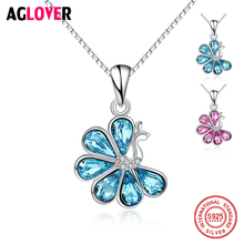 Austrian Crystal Peacock Pendant Necklaces For Women Charm 925 Sterling Silver Animal Theme Fashion Wedding Jewelry Necklace все цены