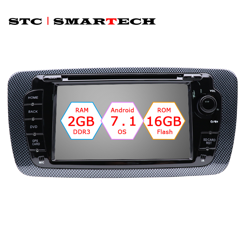 SMARTECH 2 Din Android 7.1 Car Radio DVD Player GPS Navigation for seat ibiza Quad Core 2GB RAM 16GB ROM with CAN-BUS Decoder
