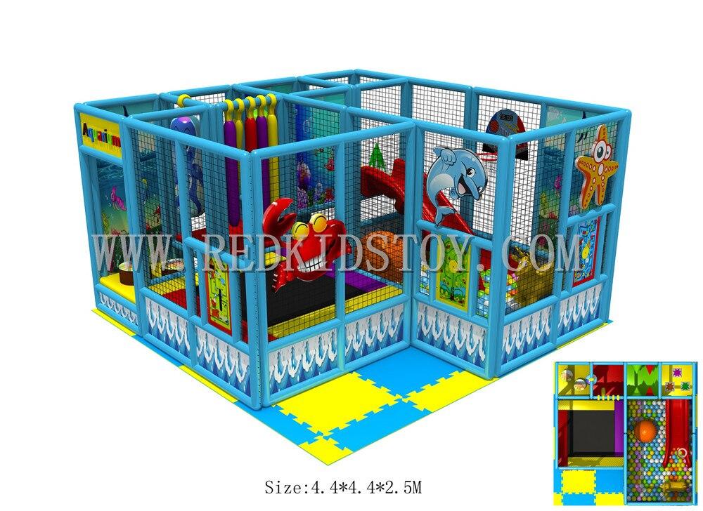 2016 NOUVEAU! Équipement de jeu d'intérieur mou assemblé d'enfant en bas âge facile à installer utilisant juste des vis pour fixer ensemble HZ-6408C