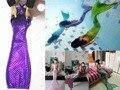 NEW 2016 Mermaid Fin Ariel New Kid Girl Sparkle Swimmable Mermaid Tail Monofin Filpper Swimwear Costume Wear Swimsuit