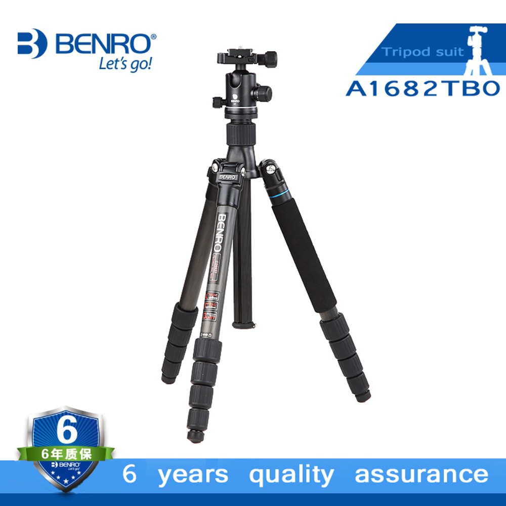 BENRO A1682TB0 Magnesium Alloy Tripod With B0 Ballhead Professional Monopod 4 Section+ Carrying Bag Kit, Max loading 8kg benro pc0 head professional panoramas heads for camera magnesium alloy panhead panoramas clamp max loading 5kg dhl free shipping