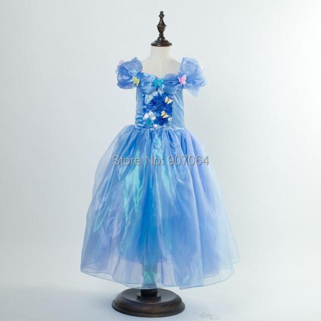 En la acción! EL CCSME DHL Envío gratis Cinderella Bbay cabritos de las muchachas de Princesa Tulle Pascua cosplay Vestido Elegante fiesta de Halloween