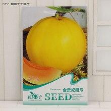 Original Package Fruit Seeds Golden Yellow Cantaloupe Seeds Mature Flowering 80 days 15 Particles Seeds / Bag