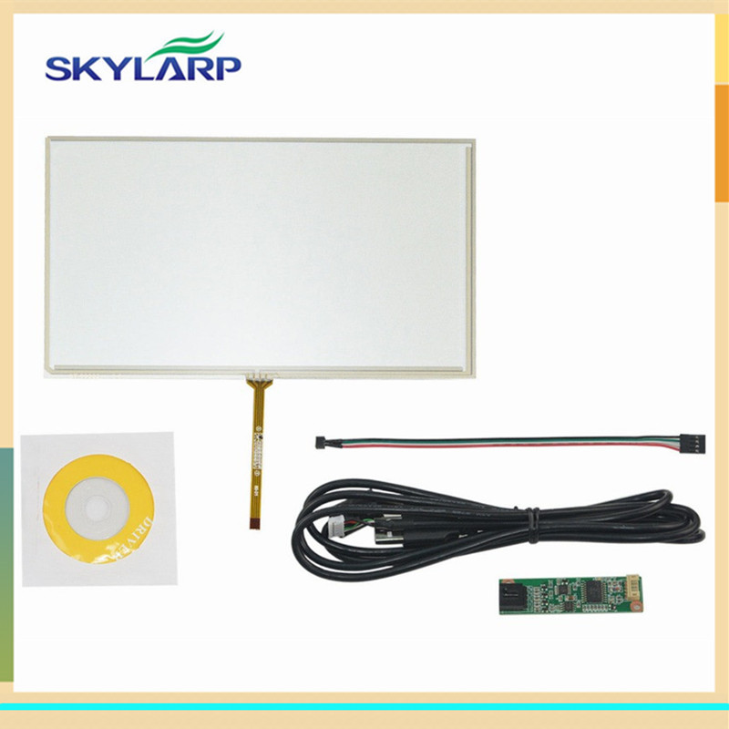 купить skylarpu New 9 inch 4 Wire Resistive Touch Screen Panel 211*126mm Digitizer USB TFT Screen touch panel Glass Free shipping онлайн