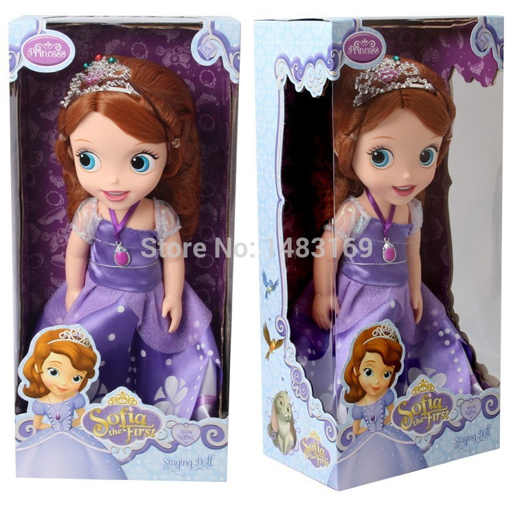 Hot Now Fashion Original Edition Sofia The First Princess Bobbi Doll VINYL Toy Boneca Accessories Doll For Kids Best Gift