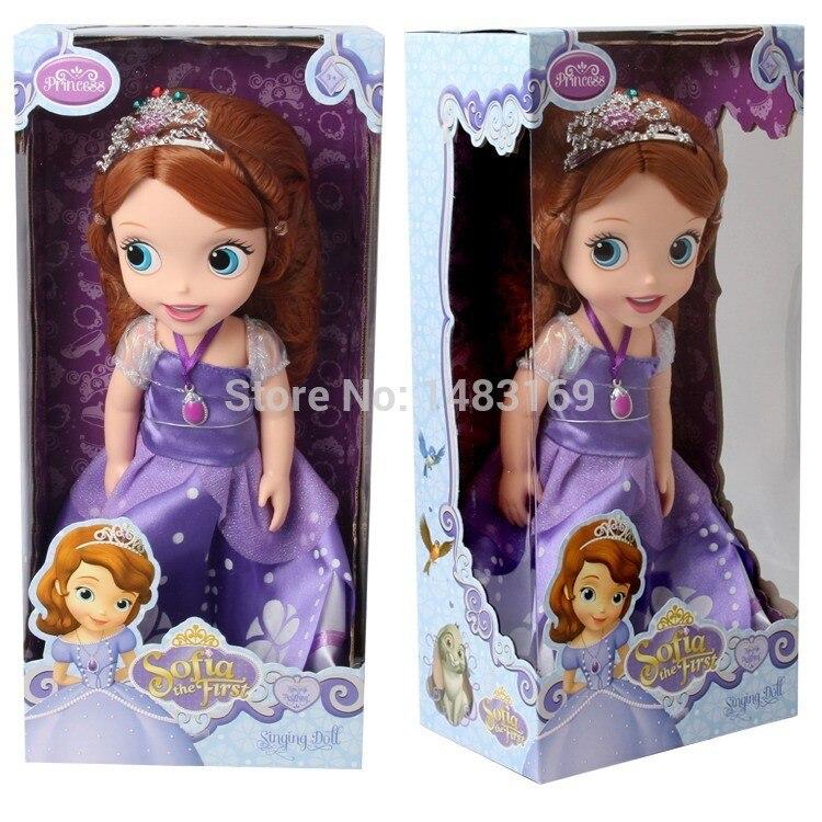 Quente Agora moda edição Original Sofia a Primeira princesa boneca acessórios da Boneca de VINIL boneca de brinquedo Para As Crianças O Melhor Presente
