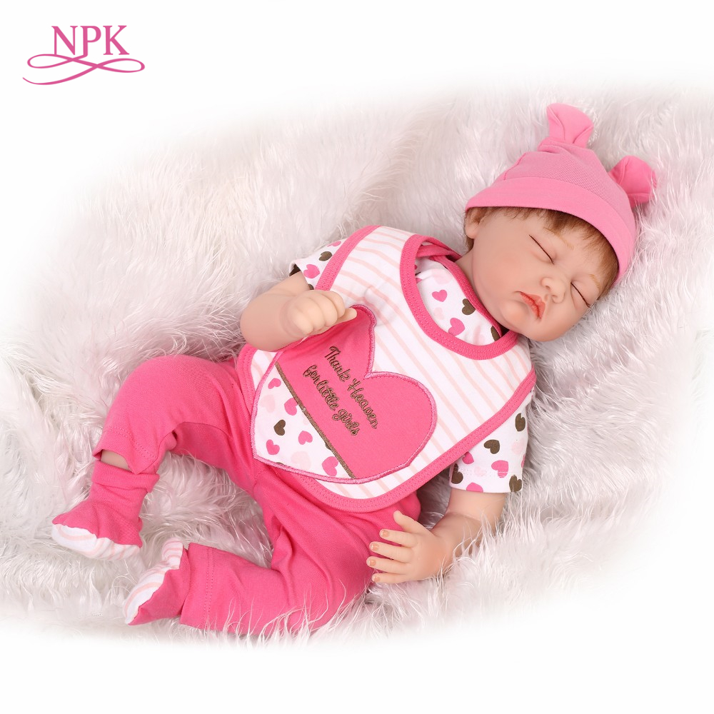 NPK reborn doll with soft real gentle touch 22inch silicone vinyl with soft mohair lifelike Christmas Gift baby alive 22inch 55cm reborn baby doll silicone vinyl soft real touch with soft mohair lifelike newborn baby christmas gift baby alive