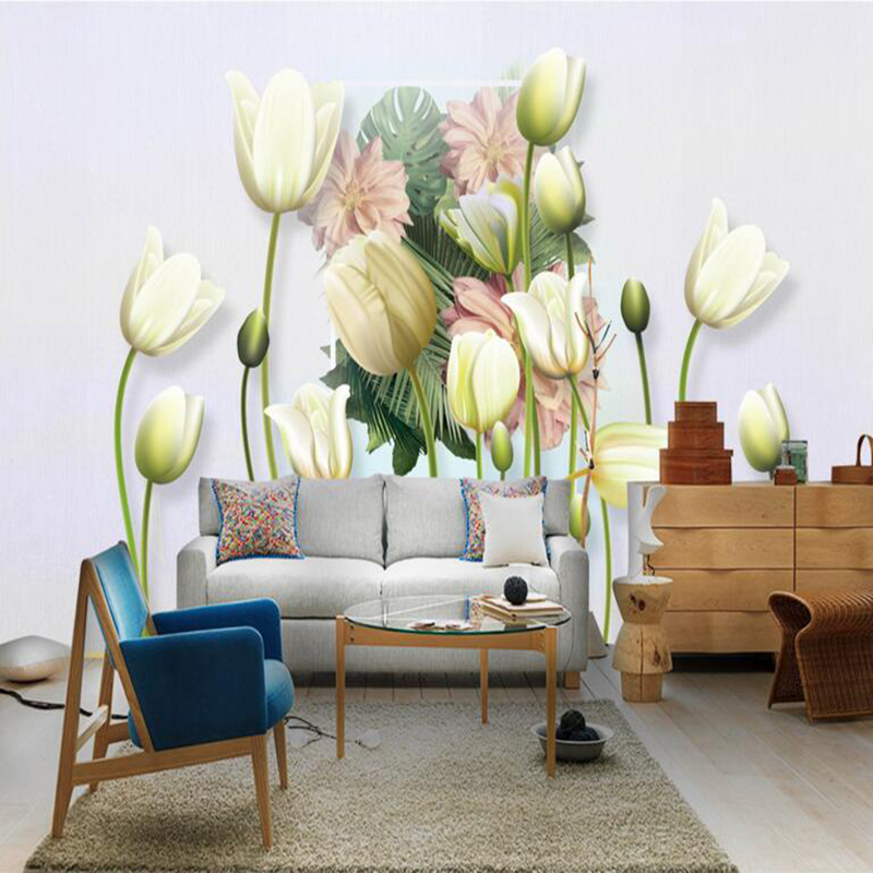 3d Effect Wallpaper for Walls Flower Wallpaper for Home Free Desktop Wallpaper Large Wall Art Kids Wall Murals Custom Murals 7 colors optional beige floral wallpaper damask wallpaper pvc wall murals free shipping best wallpaper qz0314