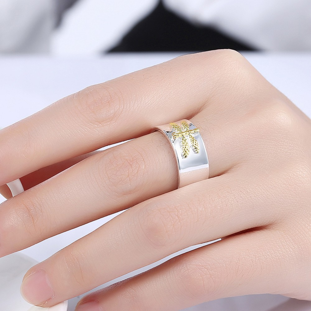 Golded Dragonfly Finger Rings 2017 New Jewelry 925 solid silver ...