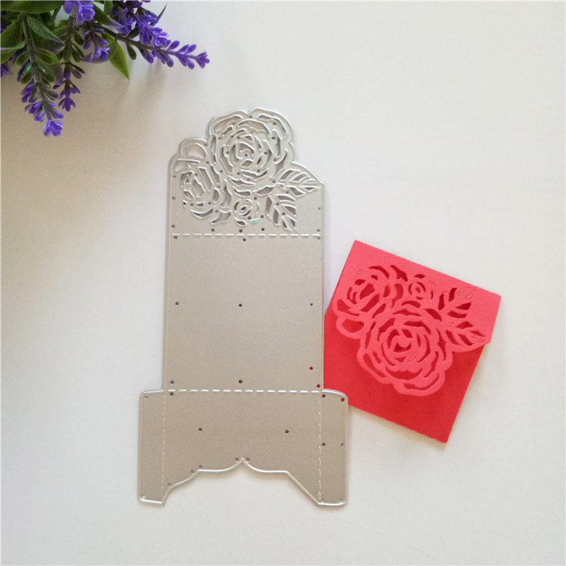 Hollow Flower Frames Metal Steel Cutting Dies for DIY Scrapbook Album Card Embossing Paper Craft Bag & Box Dies New Hot sell image