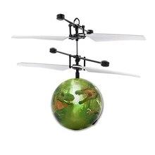 Dinosaure RC balle volante Drone hélicoptère balle intégré brillant LED éclairage pour enfants jouet RC hélicoptères