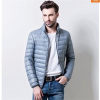 Thin hooded down jacket male stand up collar short paragraph big yards leisure thin models down jacket TB0816