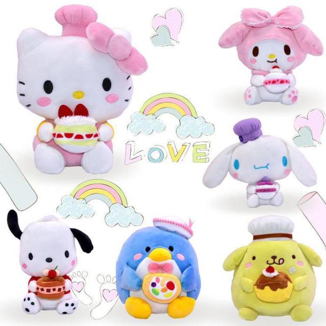 Cartoon Cookie Cake My Melody Pudding Cinnamoroll Dog Hello Kitty penguin Plush  Toys Soft Stuffed Animals b38d9d7893252
