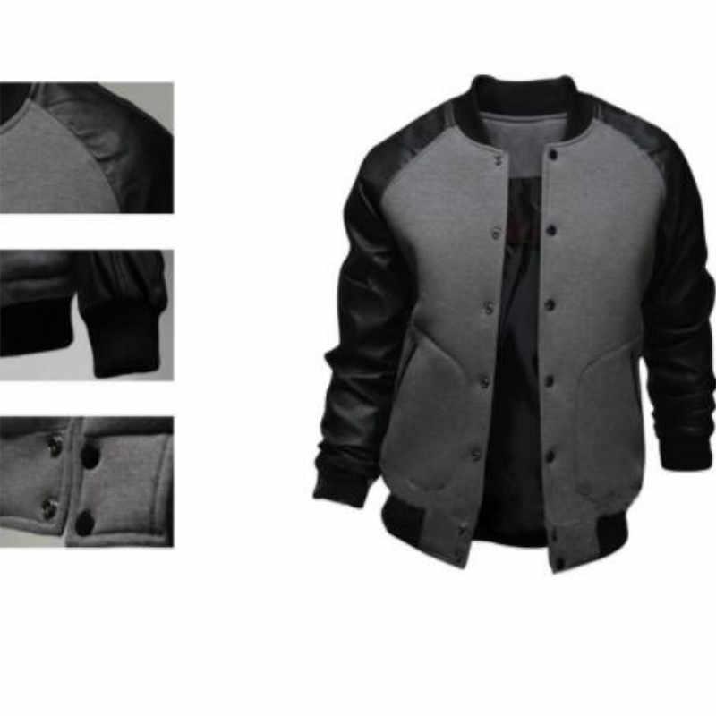 Мужские модные дизайнерские куртки 2019 новый мужской повседневный британский стиль большие карманы сшивание цветной Рукав Бейсбол костюм Slim Fit Куртки