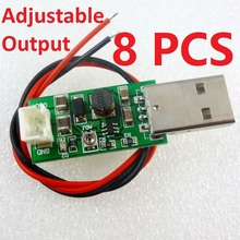 8 PCS TB293*8 7W USB DC 5V to 6V 9V 12V 15V Adjustable Output DC DC Converter Step Up Boost Module for LED Motor fan