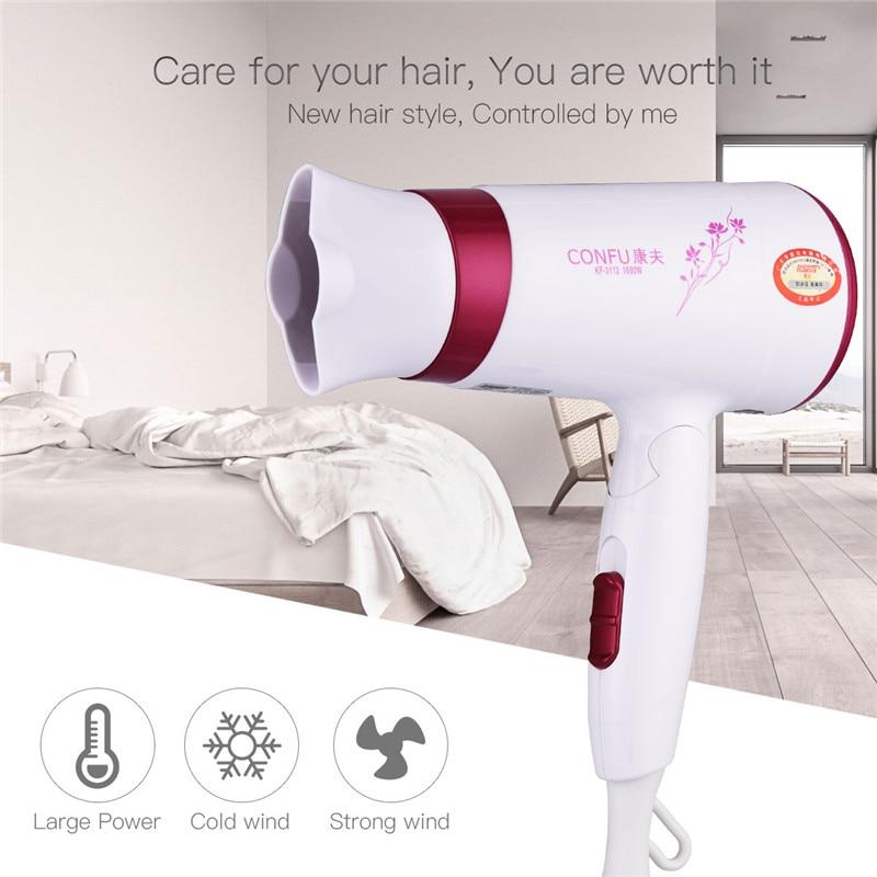 1600W Professional Electric Mini Hair Dryer Foldable Blow Dryer Portable Foldable Handle Hairdryer For Travel Household Use цена и фото