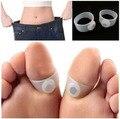 Prático New Original Magnetic Silicon massagem perda Toe anel peso Slimming fácil saúde MR0002