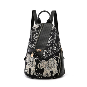 Osmond Ladies Backpack School Bag For Teenager Anti-theft Back pack Fashion Bagpack Women Print Nylon Rucksack Bohemia Mochila