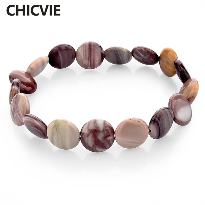 CHICVIE Tibetan Natural Stone Bracelets & bangles For Men & Women Chunky Religion Carter Love Ethnic Jewelry Bracelet SBR150167