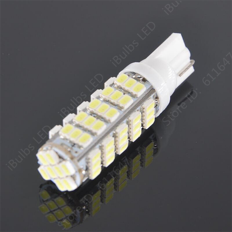 100Pcs Wholesale T10 W5W 68 LEDs 194 501 1206 SMD Car Interior lights Clearance Lamp Wedge