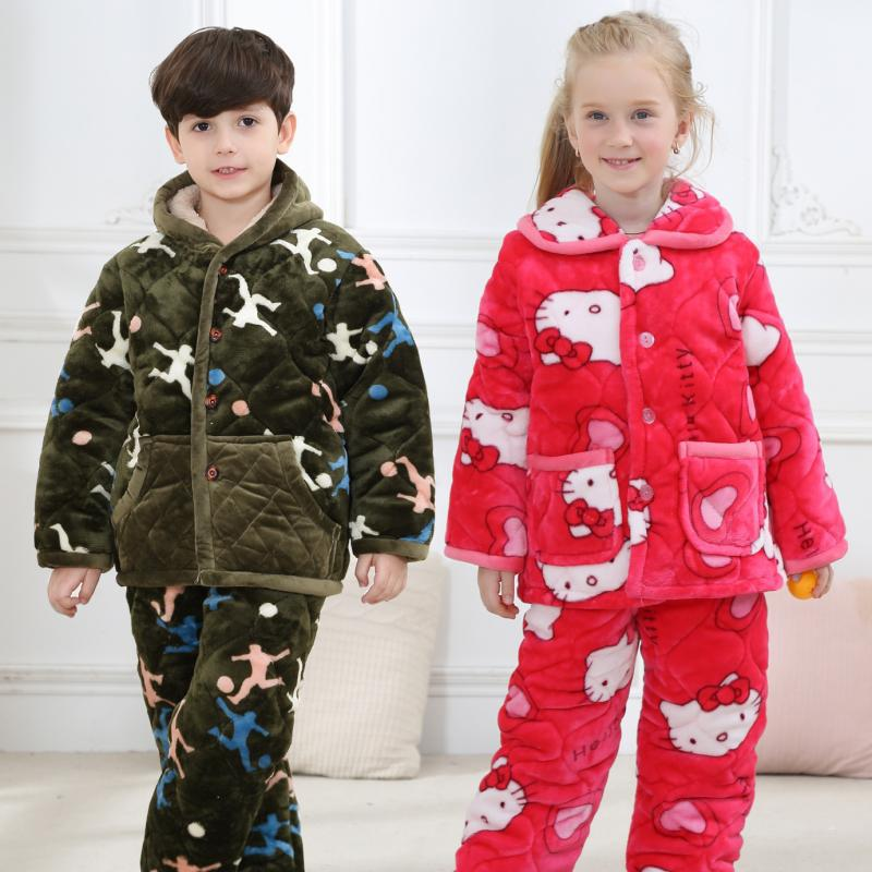 Hot Pajamas Animal Print Baby Christmas Pyjamas Cartoon Kids Pijama Infantil Kids For Boys Sleepwear Girls 14 Warm Winter Pijama cartoon character pijamas pyjamas kids pajamas for boys girls children clothing set sleepwear factory price 2015 newest cheap