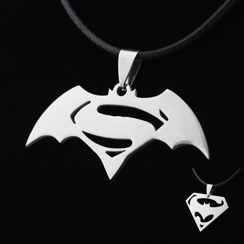 Kittenup New Fashion Hero Batman Superman Symbol stainless ss