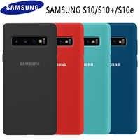 Samsung S10 funda Original de silicona suave de alta calidad 360 funda protectora completa Samsung Galaxy S10 Plus funda Galaxy S10 S10e caso