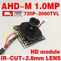 Free shipping adhm 720P 2000tvl V20E+OV9732 hd Finished Monito Mini cam chip module 2.8mm 3.0mp lens ircut Surveillance products
