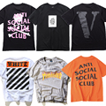 2017 THRASHER VLONE OFF WHITE ASSC PALACE Skateboards T Shirt Men Justin Bieber Hip Hop ANTI SOCIAL SOCIAL CLUB Short Sleeve Tee