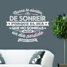 Spanish Charles Chaplin quote Removable Vinyl wall sticker Art Wallpaper for Living Room and Bedroom Home Decor House Decoration