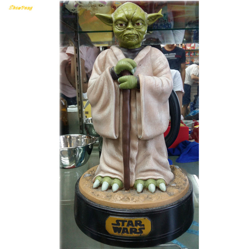Yoda 12 Star Wars action figure Piggy Bank Money Saving Box anime Figure Box Toy For Kids Halloween gift  brinquedos with box kung fu panda 3 po piggy bank pvc action figure collectible model toy kids gift 18cm