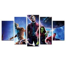 Modern Painting Modular Pictures Guardians Of The Galaxy Marvel Poster Prints On Canvas Mural Wall Art