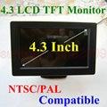 Envío gratis! 4.3 pulgadas TFT LCD RCA AV pantalla del Monitor de Color para el coche autobús SUV MPV opinión posterior del revés de la cámara alta definición