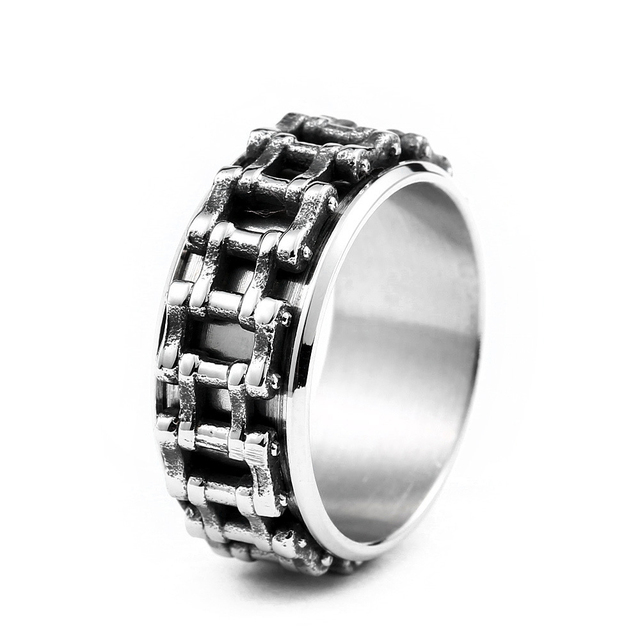 Doreenbeads Biker Bicycle Chain Ring Men Stainless Steel Jewelry