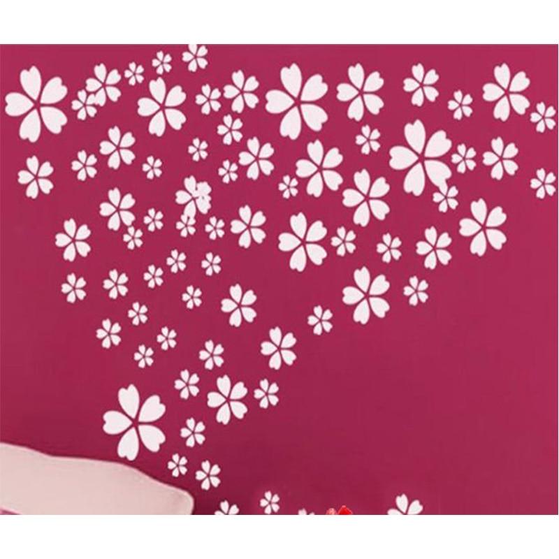 Freies Verschiffen Kirschblüten Blumen Deco Wand Kunst Wandaufkleber Aufkleber