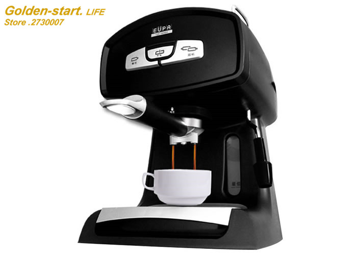 Semi-automatic type steam coffee machine Household and office  Espresso coffee maker 5-12 cups Free shipping new coffee machine home office semi automatic italy type cappuccino espresso coffee maker hot sales