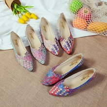 Brand Ksyoocur 2018 Spring New Ladies Flat Shoes Casual Women Shoes Comfortable Pointed Toe Flat Shoes 18-011