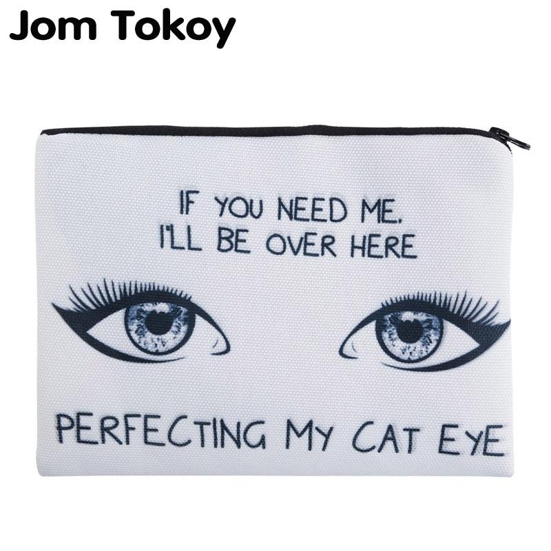 Jom Tokoy 3D Printing Perfecting My Cat Eye Simple Cosmetic Bags  Women Travelling Makeup bag