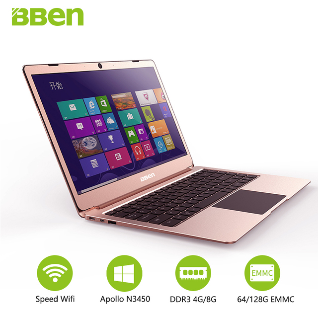 1 Inch Laptop Notebook PC Window 10 Intel Apollo Lake N3450 Quad Sum 4GB RAM 64GB Matel Screen Laptops.