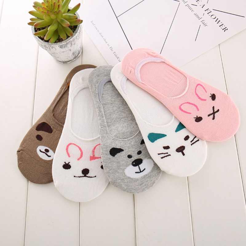 1 Pair Lovely Soft Ankle Socks For Women Girls Cute Cartoon Animal Cotton Warm Socks Harajuku Ankle Sox Low Cut Sock