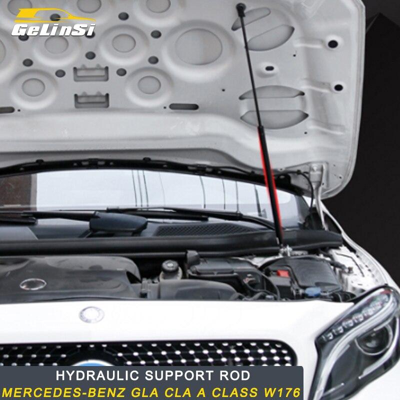 Gelinsi pour Mercedes benz classe A GLA CLA w176 auto moteur couverture support tige hydraulique support tige accessoires