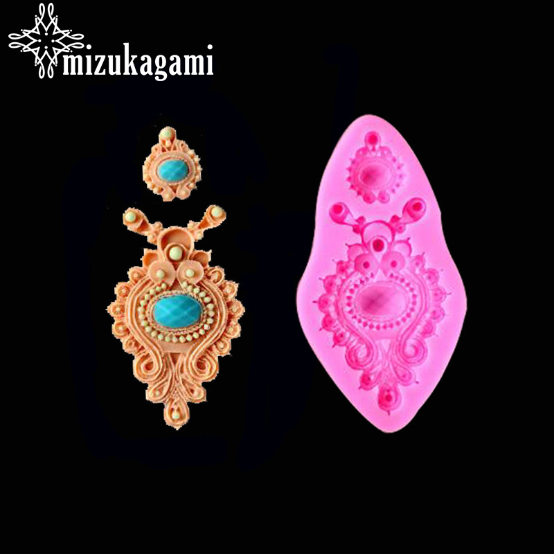 1pcs UV Resin Jewelry Liquid Silicone Mold Necklace Shape Resin Charm Molds For DIY Intersperse Decorate Making Jewelry