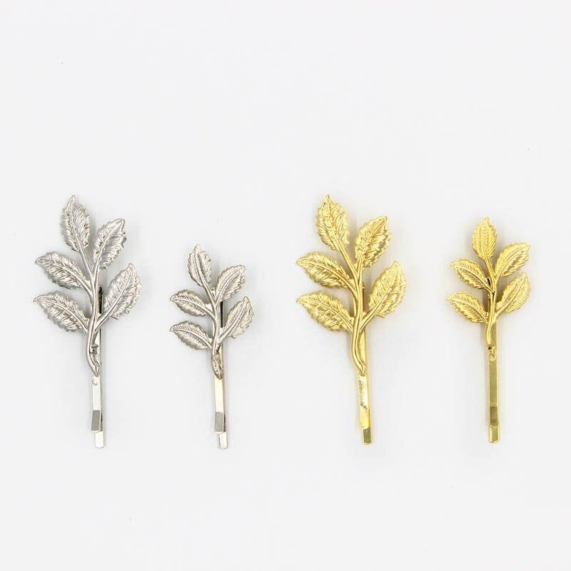 1pc Metal Leaf Hair Clip Girls Vintage Hairpin Princess Women Hair Accessories Barrettes accesorios para el pelo hairpins